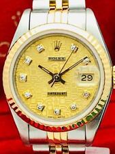 100% Orig ROLEX Datejust SS 18k Gold Diamond Jubilee Dial 26mm Ladies Watch