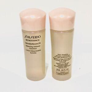 Shiseido Benefiance WrinkleResist24 Balancing Softener Enriched 25ml x 2 = 50ml.