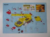 "PLAYMOBIL- ""PLANO INSTRUCCIONES MONTAJE CAMION GRUA REF. 3761"" - LUJO!"