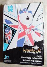 Wenlock 30 cm Handheld Inflatable Union Flag Mascot LONDON 2012