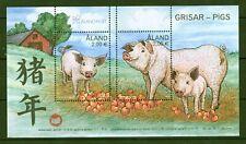 Aland 2018 - chin. Neujahr Zodiac Jahr des Schweines 🐷 Nr. 464-65 = Block 18 ⁑