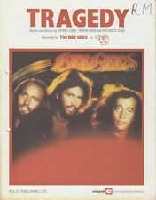 Tragedy - The Bee Gees - 1979 Sheet Music
