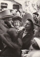 Rita Hayworth à Longchamp Original Vintage Juin 1949
