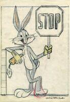 CHUCK JONES Stop on the Lot Bugs Bunny Warner Bros Paper Giclee Lt Ed of 475