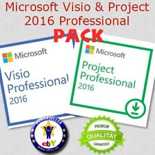 ⭐️ Microsoft Project & Visio 2016 Professional PACK ⭐️ Offiziell und Schnell ⭐️