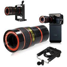8x Zoom Optical Camera Telephoto Telescope Lens Holder For Mobile Cell Phone