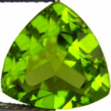 3.15 Natural Peridot Gemstone Green Color Trillion Cut