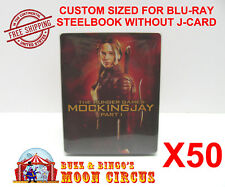 50x BLU-RAY STEELBOOK CLEAR PROTECTIVE SLEEVE - BOX PROTECTORS - NO J-CARD SIZE