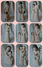 Natures Angel Figurine ornament figure Christening Baptism New Baby Gift church