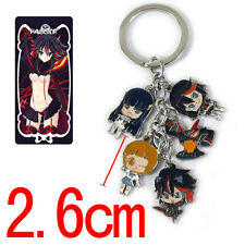 KILL la KILL Anime Character 5 Pendants Mental Key Chain/Ring Cute Keychain