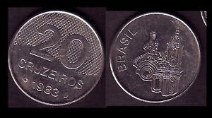 ★★ BRESIL ● 20 CRUZEIROS 1983 ● E6 ★★