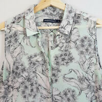 [ SPORTSCRAFT ] Womens Silk Print Blouse Shirt Top   Size AU 14