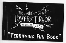 DISNEY DLR TWILIGHT ZONE TOWER of TERROR EVENT TERRIFYING FUN BOOK APRIL 2004