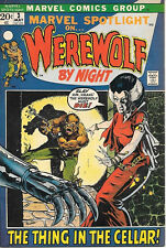 Marvel Spotlight On... Comic Book #3 Werewolf By Night 1972 FINE+