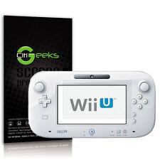 CitiGeeks® Nintendo Wii U Screen Protector Crystal Clear HD Film Shield [6-Pack]