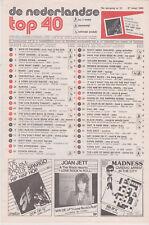 Songcharts / Hitlijst De Nederlandse Top 40 18e jaargang nr.12 27-03-1982