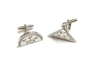 Maths Geometry Stainless Steel Mens Cufflinks Shirt Business Teacher Cuff links
