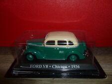 VEHICULE SERIE TAXI DU MONDE = FORD V8 CHICAGO 1936