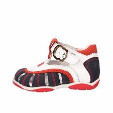 scarpe bambino BALDUCCI 18 sandali blu bianco pelle / pelle scamosciata AF340-C