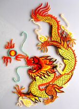 1 piece Large Dragon Iron on Patch Embroidered 27cm Applique Craft IC93