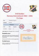 ARID GULDEN NORWAY INTL 1963-1965 ORIGINAL AUTOGRAPH CUTTING/CARD