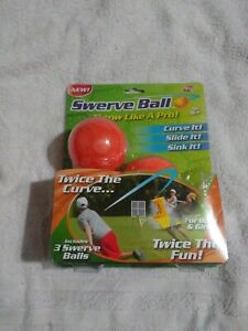 NIB NEW Swerve Ball curve slide sink trick throw Set of 3 As Seen on TV