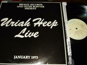 URIAH HEEP : LIVE 2LP 1973 BRONZE ISLD1 UK +BOOKLET