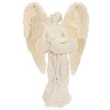Cream Standing Angel Tealight Holder