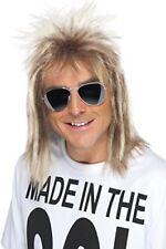 Smiffys Homme Perruque Mullet des Années 80 blond Cendré 42021