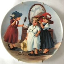 Edwin M Knowles Fine China Plate Jeanne Down High Society 1986