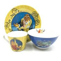 Disney Beauty & The Beast Mug Plate and Bowl Dinner Gift Set Boxed New DI375