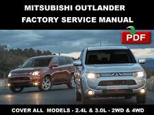 MITSUBISHI 2014 - 2015 OUTLANDER FACTORY SERVICE REPAIR MANUAL + WIRING DIAGRAM