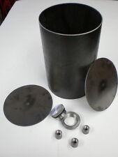 "DIY Custom Oil Tank kit 5"" flat end cap, chopper, bobber, rigid, bag harley bsa"