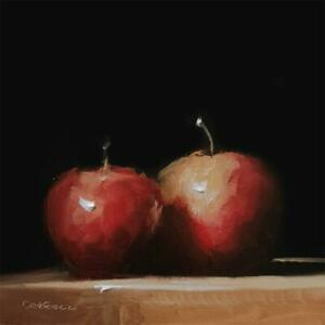 Neil Carroll Original Oil Painting Realism Impressionism Still Life Apples