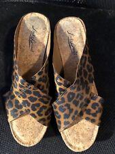 "Sandals, LUCKY BRAND, animal print, 3 1/2"" wedge, SZ: 7 1/2M"