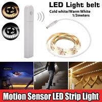 Wireless PIR Motion Sensor LED Strip Lamp Home Cabinet Closet Stairs Night Light