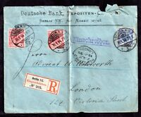 Germany 1894 Registered Postal History Cover to London from Berlin WS6901