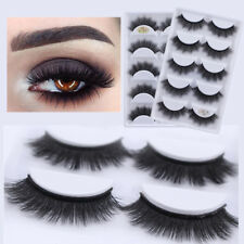 Natural Cross Long 100% Real 3D Mink Fur Eye Lashes Extension False Eyelashes H7