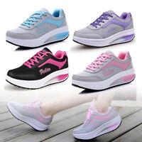 Women ladies Platform Shoes Casual Fitness Walking Sport Sneakers 2019 Hot