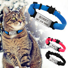 Breakaway Personalized Cat Collar & ID Tag & Bell Quick Release for Kitten