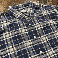 J.Crew Blue Plaid Flannel Shirt Mens Size XL Extra Large