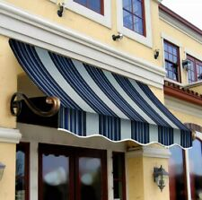 "Awntech 3' Charleston Window/Entry Awning, 44"" x 24"", Navy/Gray/White"