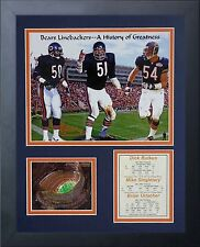 11x14 CHICAGO BEARS MONSTERS OF THE MIDWAY BUTKUS URLACHER  8X10 PHOTO FRAMED
