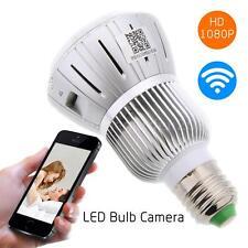 HD 1080P Full Hidden WIFI IP Light Bulb Camera Motion Detection CCTV US Stock