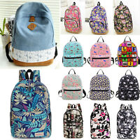 Women's Girl Floral Backpack Rucksack School Shoulder Bags Satchel Travel Bags