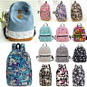 Womens Girl Floral Backpack Rucksack School Shoulder Bags Satchel Travel Bag New