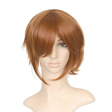 Brown Short Length Anime Costume Cosplay Wig