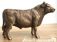 Bull ornament figurine sculpture Leonardo Bronzed range cattle farmer gift boxed