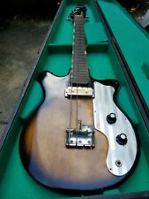 Teisco Bass Guitar Short Scale  Gold Foil Pickup  with orig case bs-101 model
