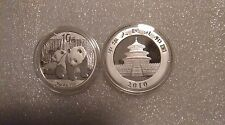 2010 1 oz Silver Chinese Panda Coins (In Capsule)